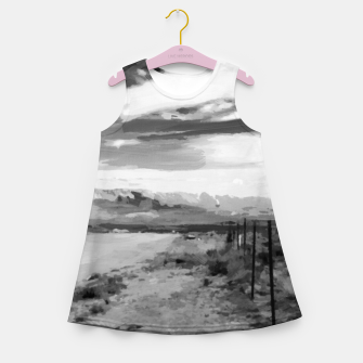 hurricane valley digital oil painting akvop bw Girl's summer dress thumbnail image