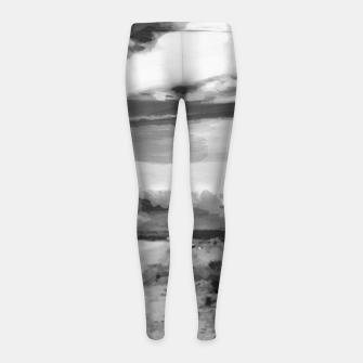 hurricane valley digital oil painting akvop bw Girl's leggings thumbnail image