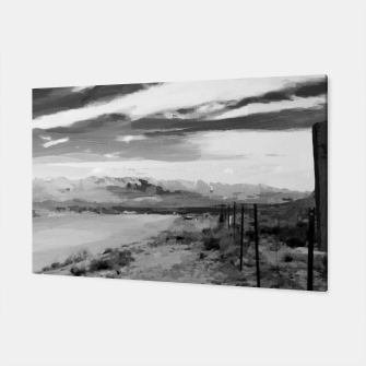 hurricane valley digital oil painting akvop bw Canvas thumbnail image