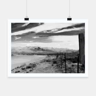hurricane valley digital oil painting akvop bw Poster thumbnail image