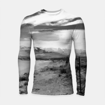 hurricane valley digital oil painting akvop bw Longsleeve rashguard  thumbnail image