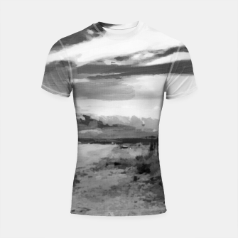 hurricane valley digital oil painting akvop bw Shortsleeve rashguard thumbnail image