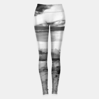 hurricane valley digital oil painting akvop bw Leggings thumbnail image