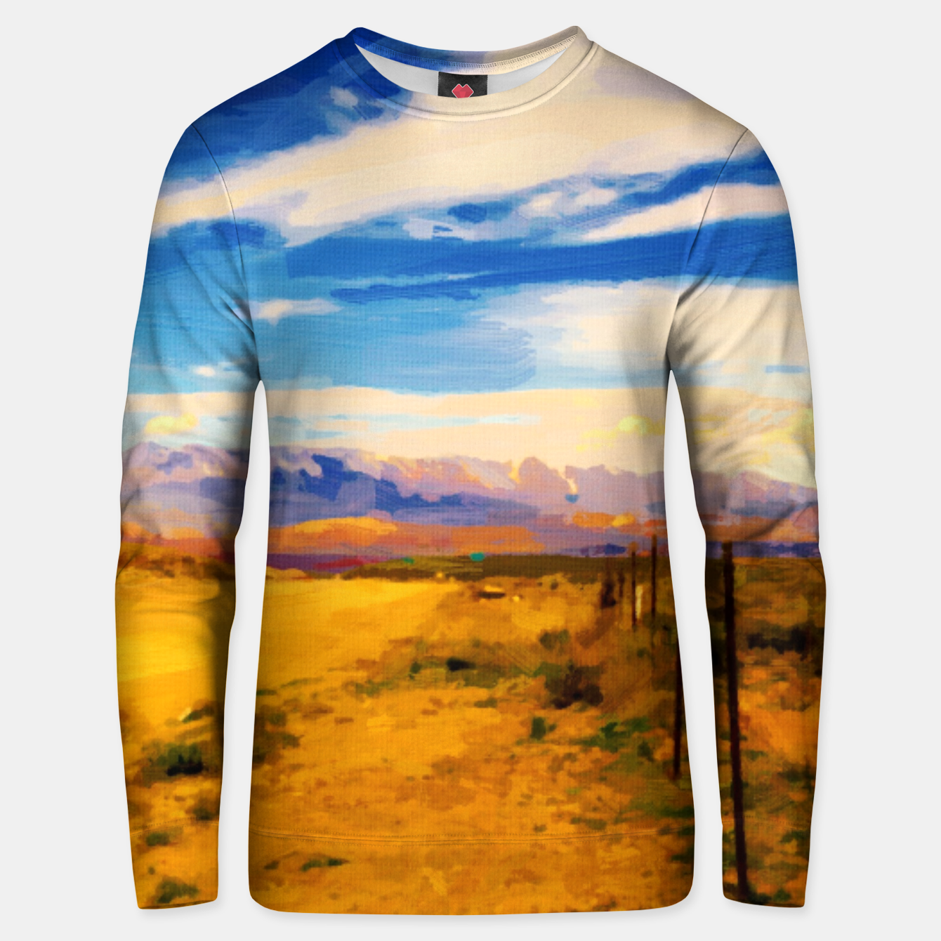 Image of hurricane valley digital oil painting akvop std Unisex sweater - Live Heroes