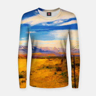 hurricane valley digital oil painting akvop std Women sweater thumbnail image