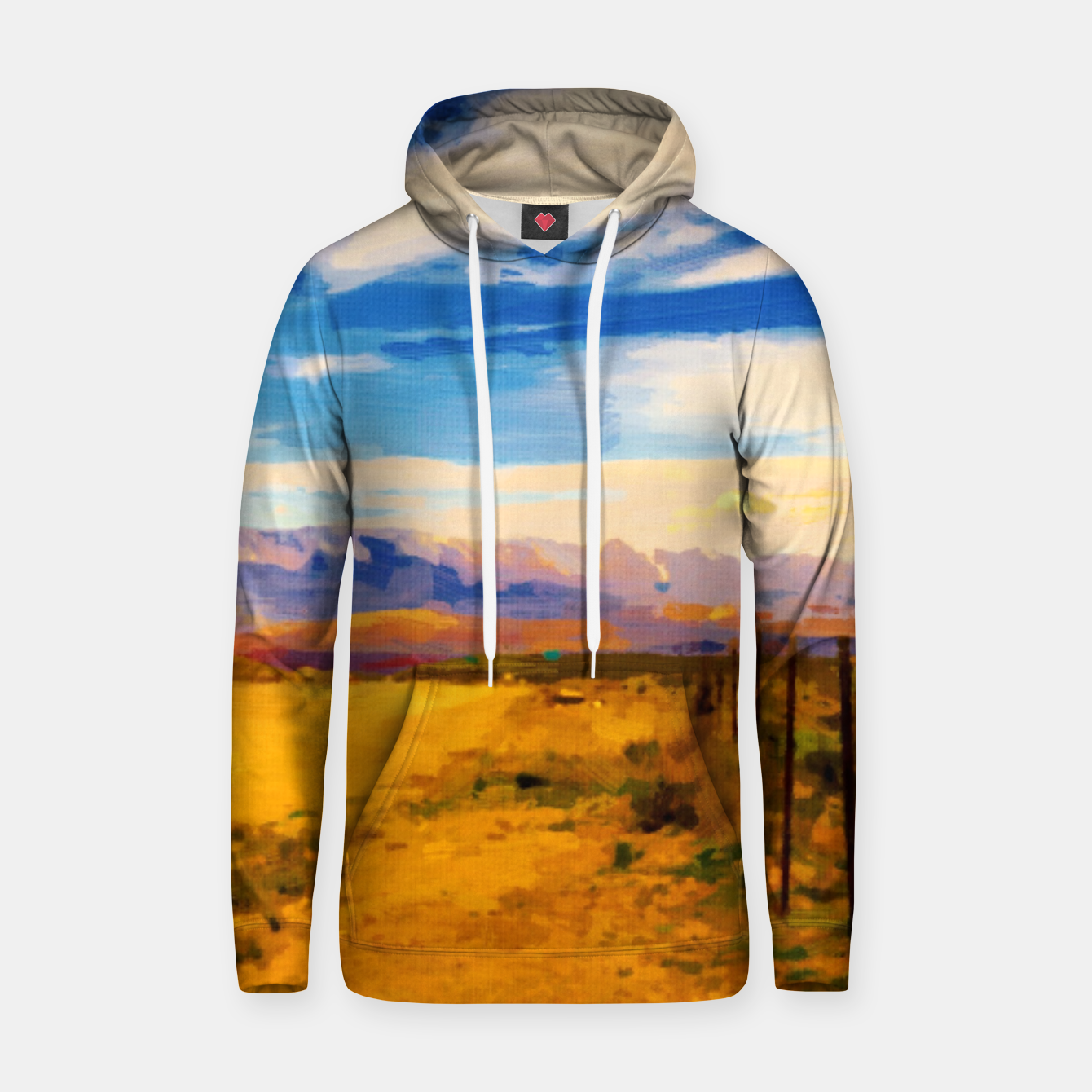 Image of hurricane valley digital oil painting akvop std Hoodie - Live Heroes