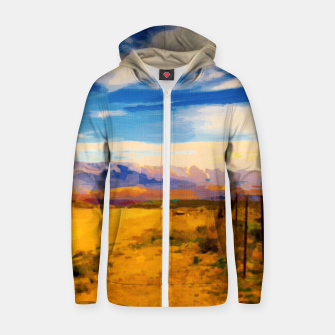 hurricane valley digital oil painting akvop std Zip up hoodie thumbnail image