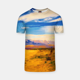 hurricane valley digital oil painting akvop std T-shirt thumbnail image