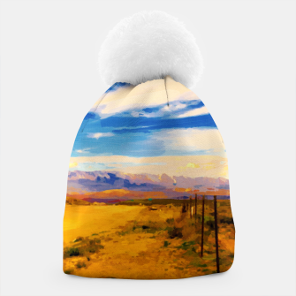 hurricane valley digital oil painting akvop std Beanie thumbnail image