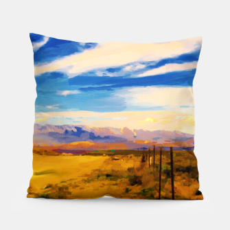 hurricane valley digital oil painting akvop std Pillow thumbnail image