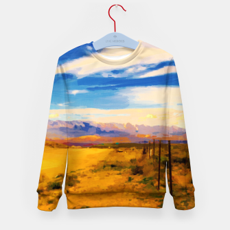 hurricane valley digital oil painting akvop std Kid's sweater thumbnail image
