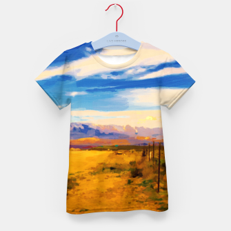 hurricane valley digital oil painting akvop std Kid's t-shirt thumbnail image