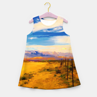 hurricane valley digital oil painting akvop std Girl's summer dress thumbnail image