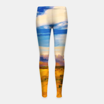 hurricane valley digital oil painting akvop std Girl's leggings thumbnail image