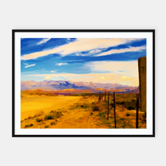 hurricane valley digital oil painting akvop std Framed poster thumbnail image