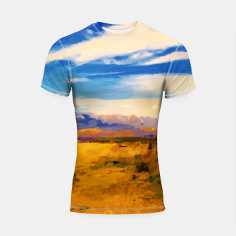 hurricane valley digital oil painting akvop std Shortsleeve rashguard thumbnail image