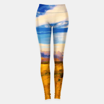 hurricane valley digital oil painting akvop std Leggings thumbnail image