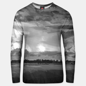 hurricane storm landscape digital oil painting akvop bw Unisex sweater thumbnail image