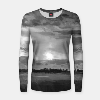 hurricane storm landscape digital oil painting akvop bw Women sweater thumbnail image