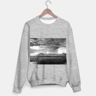 hurricane storm landscape digital oil painting akvop bw Sweater regular thumbnail image