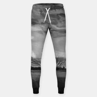 hurricane storm landscape digital oil painting akvop bw Sweatpants thumbnail image