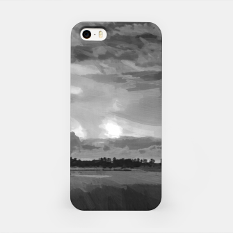 hurricane storm landscape digital oil painting akvop bw iPhone Case thumbnail image