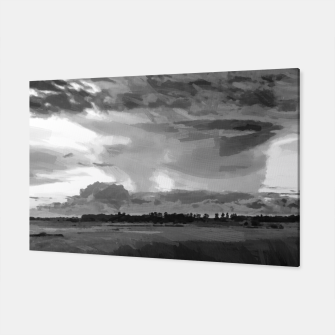 hurricane storm landscape digital oil painting akvop bw Canvas thumbnail image