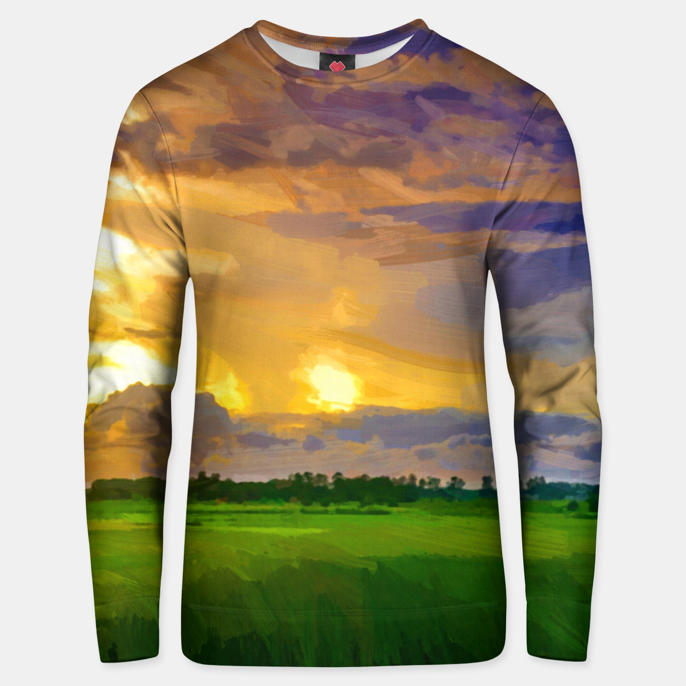 Image of hurricane storm landscape digital oil painting akvop std Unisex sweater - Live Heroes