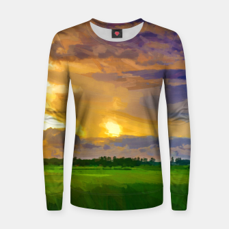 hurricane storm landscape digital oil painting akvop std Women sweater thumbnail image