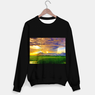 hurricane storm landscape digital oil painting akvop std Sweater regular thumbnail image
