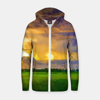 hurricane storm landscape digital oil painting akvop std Zip up hoodie thumbnail image