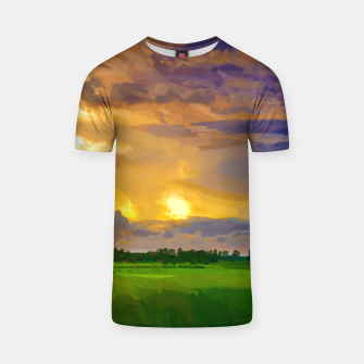 hurricane storm landscape digital oil painting akvop std T-shirt thumbnail image