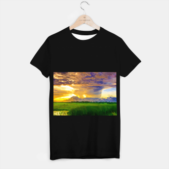 hurricane storm landscape digital oil painting akvop std T-shirt regular thumbnail image