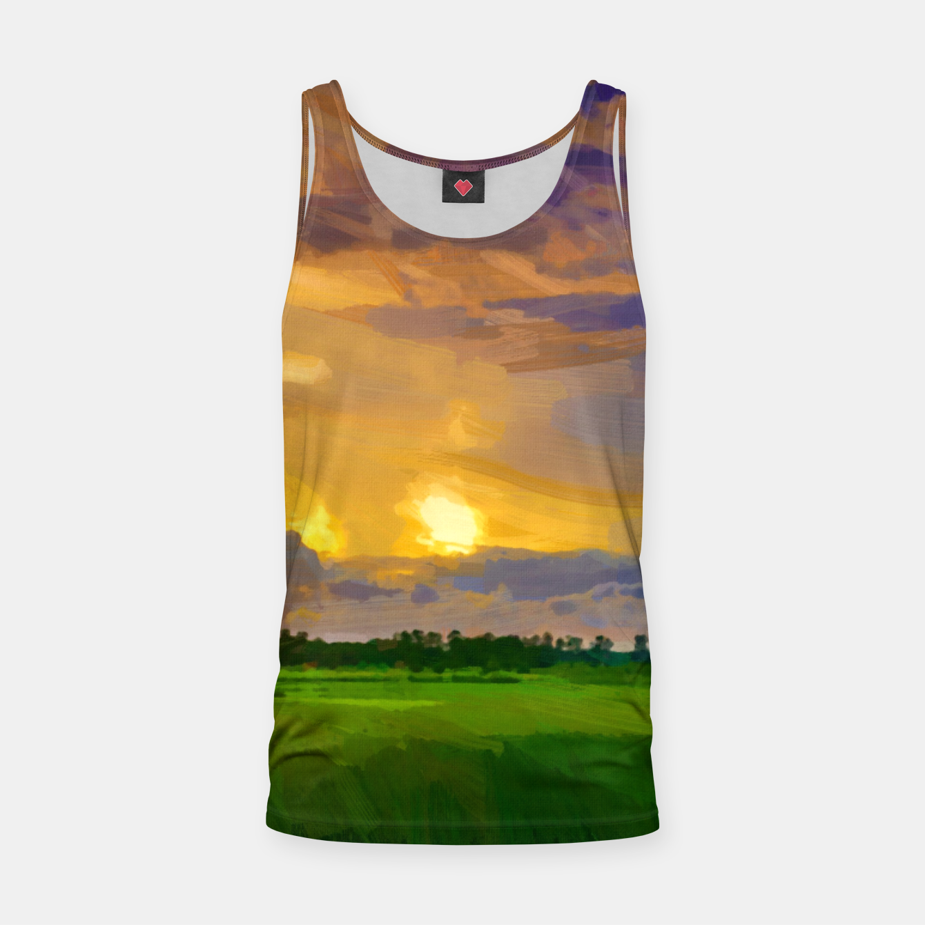 Image of hurricane storm landscape digital oil painting akvop std Tank Top - Live Heroes