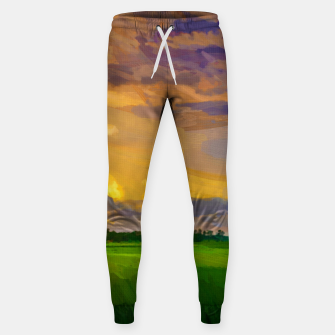 hurricane storm landscape digital oil painting akvop std Sweatpants thumbnail image