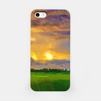 hurricane storm landscape digital oil painting akvop std iPhone Case thumbnail image