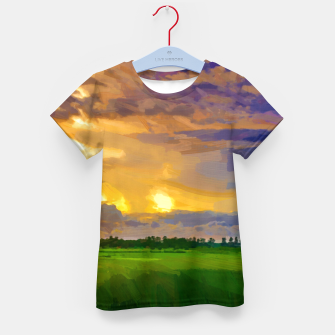 hurricane storm landscape digital oil painting akvop std Kid's t-shirt thumbnail image