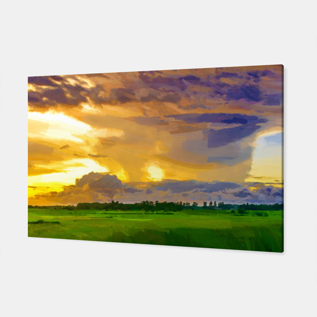 Image of hurricane storm landscape digital oil painting akvop std Canvas - Live Heroes
