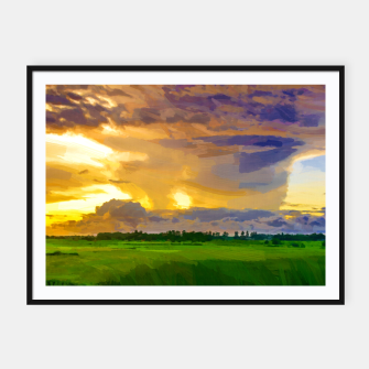 hurricane storm landscape digital oil painting akvop std Framed poster thumbnail image