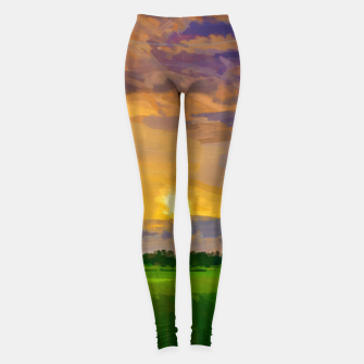 hurricane storm landscape digital oil painting akvop std Leggings thumbnail image