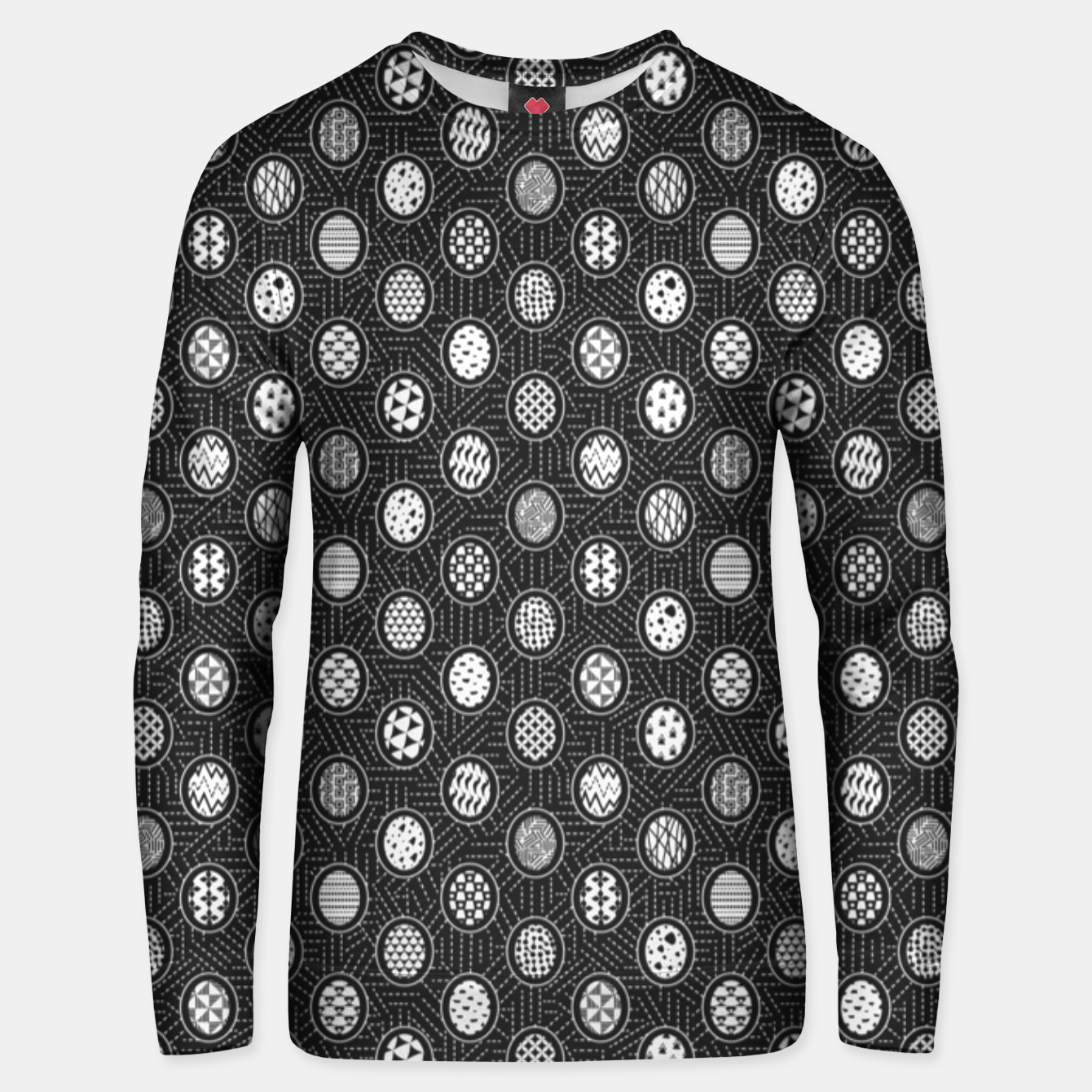 Image of Monochrome Easter Geometry Unisex sweater - Live Heroes