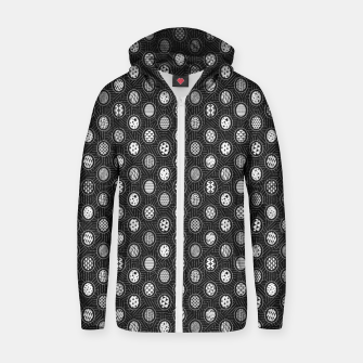 Monochrome Easter Geometry Zip up hoodie thumbnail image