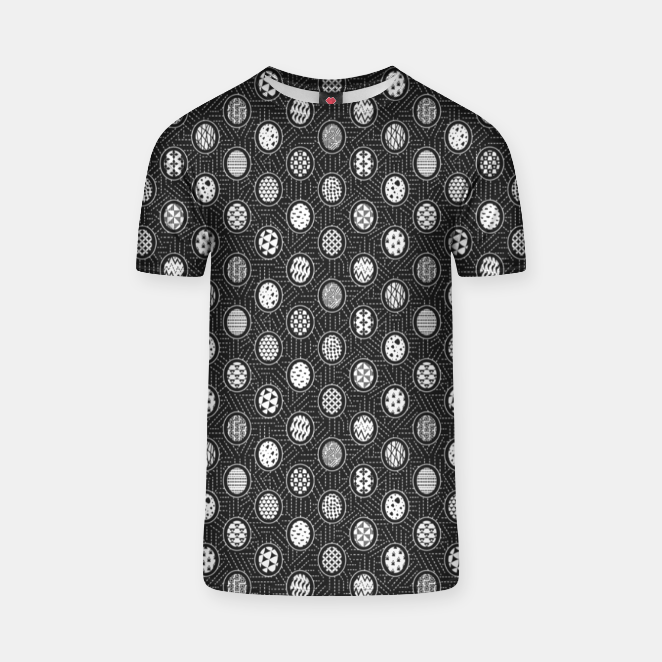 Image of Monochrome Easter Geometry T-shirt - Live Heroes