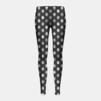 Monochrome Easter Geometry Girl's leggings thumbnail image