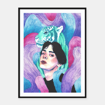 Thumbnail image of Aura Framed poster, Live Heroes