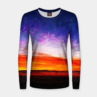 idyllic sunset starry sky digital oil painting akvop std Women sweater thumbnail image