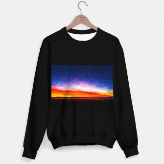 idyllic sunset starry sky digital oil painting akvop std Sweater regular thumbnail image