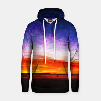 idyllic sunset starry sky digital oil painting akvop std Hoodie thumbnail image