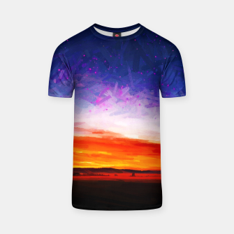 idyllic sunset starry sky digital oil painting akvop std T-shirt thumbnail image