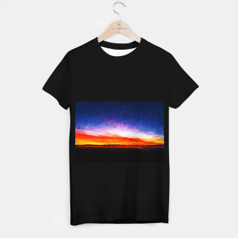 idyllic sunset starry sky digital oil painting akvop std T-shirt regular thumbnail image